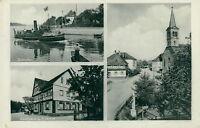Ansichtskarte Durmersheim 1938 Gasthaus zum Lamm Zollhafen Au a. R.  (Nr.755)