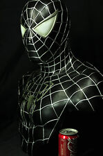 BLACK SPIDER-MAN LIFE SIZE BUST 1/1 SCALE CUSTOM STATUE HOT SPIDERMAN TOY XM