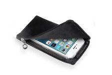 SoftCase schwarz f Apple iPhone SE Tasche Reissverschluß Case Hülle
