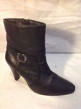 Soleflex Black Ankle Leather Boots Size 5