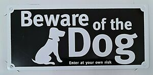Beware Of The Dog Sign Caution Notice Sticker Sign Garden Gate Fence with Screws