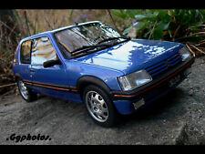 peugeot 205 gti 1.9l bleu miami 1/18 1:18 otto ottomodels ottomobile boxed + boi