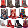 Women Printed Satin-Silk Square Scarf Wrap Shawl Beach Scarves Stole Lot 90*90cm
