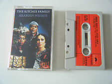 THE RITCHIE FAMILY ARABIAN NIGHTS CASSETTE TAPE 1976 RED PAPER LABEL POLYDOR UK