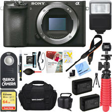 Sony a6500 4K Mirrorless Camera Body with APS-C Sensor + 64GB Battery Bundle