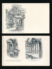 Worcestershire WORCESTER Commandery Series Museum x8 pre1919 PPCs