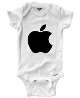 Infant Gerber Onesies Bodysuit One-Pieces Clothes Boy Baby Gift Print Cute Apple