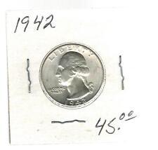 1942 USA Washington Quarter 25 cent coin