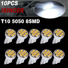 10x Super White T10 8SMD LED License Plate Dome Light Instrument Bulbs 194 192