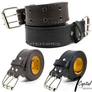Men's Dress Causal Jeans Buckle Genuine Leather Belts Black Brown M L XL 32-42