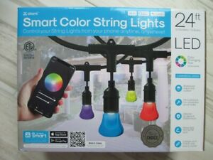 Wi-Fi - 24Ft Smart Color LED String Lights - 9 Modes Color Changing - LINKABLE