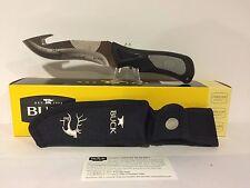"""Buck 085 Haley Heath ErgoHunter Adrenaline Select Fixed  Knife 4.5"""" Gut Hook"""