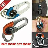 Keychain Key Ring Hook Outdoor Stainless Steel Buckle Carabiner Climbing 2-Color