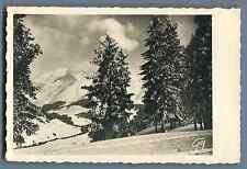 France, Le Mont Blanc Vintage silver print. Postcard paper. Papier carte postale