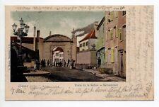 DIEUZE DUSS Moselle CPA 57 carte couleur de la porte de la saline en 1903