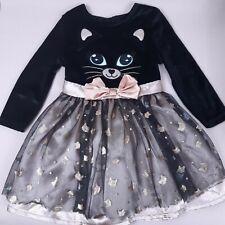 Baby Girls Black Cat Halloween Fancy Dress Costume 9-12 Month
