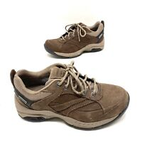 New Balance 955 Gore Tex Womens Brown Suede Hiking Trail Shoes Size 7 B