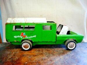 Vintage 70s Buddy L Riding Academy Horse Hauler Truck