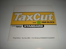 H&R Block TaxCut 2002 Standard.  2002 Tax Cut software. New.