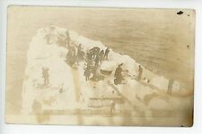 """""""Took 3 Hrs to Clear Focsle of Ice"""" Arctic Ship RPPC Antique Maritime Photo~1910"""