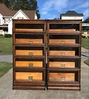 Matching Pair of Oak Globe Wernicke D299 Barrister Bookcases