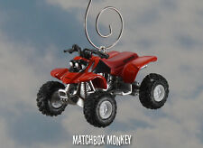 Custom Red Honda Sportrax 400EX ATV 4x4 Yamaha Polaris Christmas Ornament 1/64