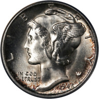 1945-S Mercury Dime Micro 'S' ANACS MS65 Superb Eye Appeal Strong Strike