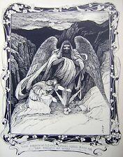 Las ilustraciones Art Deco el alado Diablo Walter Crane RWS (atribuido) Tinta C1900