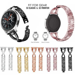 22mm Bling Stainless Steel Strap Watch Band For Samsung Gear S3 Frontier/Classic