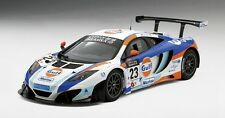 McLaren 12c Gt3 #23 Gulf United Autosport 2nd Place Macau Gp 2013 1:18 Model