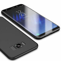 LaraM Ultra Slim Samsung Galaxy S8 Hülle Matt Schwarz Schutzhülle Case Silikon