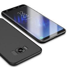 LaraM Ultra Slim Schutzhülle Samsung Galaxy S8 Carbon Fiber Hülle Matt Schwarz