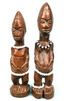 Arte Africano Arti Primo - Antico Coppia Bo Usu Baule - 19,5 & 18 CMS