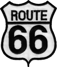 22007 Route 66 Road Highway Classic Trip Cutout Embroidered Sew Iron On Patch