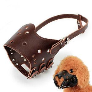 Adjustable Pets Dog Muzzle Basket Anti-bite Barking Stop Mouth Cover Mask Safety