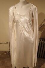 NWT Oscar De La Renta Pearl White Robe & Night Gown Bridal Set #635355 FREE GIFT