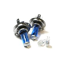 H4 501 55w Super White Upgrade Xenon HID High/Low/LED Side Light Bulbs Kit