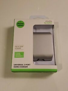 Studio by Belkin Universal 2-Port USB Home Charger for Phone / Tablet 4.8 AMP