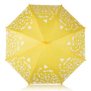 MyBrellie ABC Color Changing Kids Folding Umbrella 38 Inch Plastic Handle