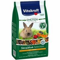 Vitakraft Emotion Sensitive All Ages, Zwergkaninchen-600g-Futter Kaninchen Hasen