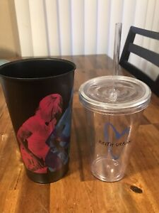 2 Keith Urban Drinking Cups Tumblers Water With Lid And Straw Graffiti U Heart