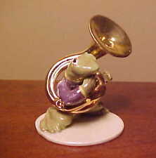 Hagen-Renaker Specialty Toadally Brass #3252 Tuba Player - Ceramic Frog Figurine