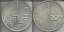 SVIZZERA 20 FRANCHI 1991 B FDC