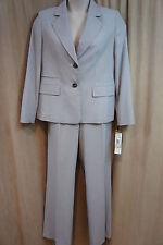 """Evan PICONE pantalone abito taglia 16 BIANCO GRIGIO combinazione """" Camden """""""