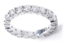1.75 ct Round Diamond Ring 14k White Gold Eternity Band F-G, VS/SI1 Sz 9 0.07 ct