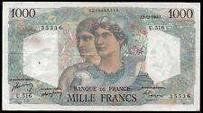 1000 francs ; MINERVE et HERCULE ; émis le 2.12.1948  ; FAY 41/24 / L153