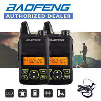 Twin Baofeng BF-T1 MINI Walkie Talkie UHF 400-470MHz Handheld Interphone Headset