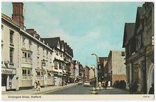 (P4760) Greengate Street, Stafford. Vintage Dennis Photocolour Postcard