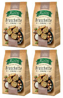 4 x BRUSCHETTE MARETTI Mushroom & Cream Flavor Oven Baked Bread Bites Snacks 70g
