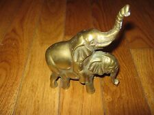 Vintage Brass Elephant Figurine Ornament  Impression Of Two Lovers Making Love